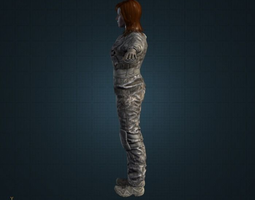 Female Soldier 3D
