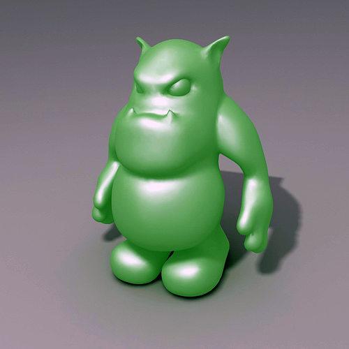 3d printable model ogre creature cgtrader