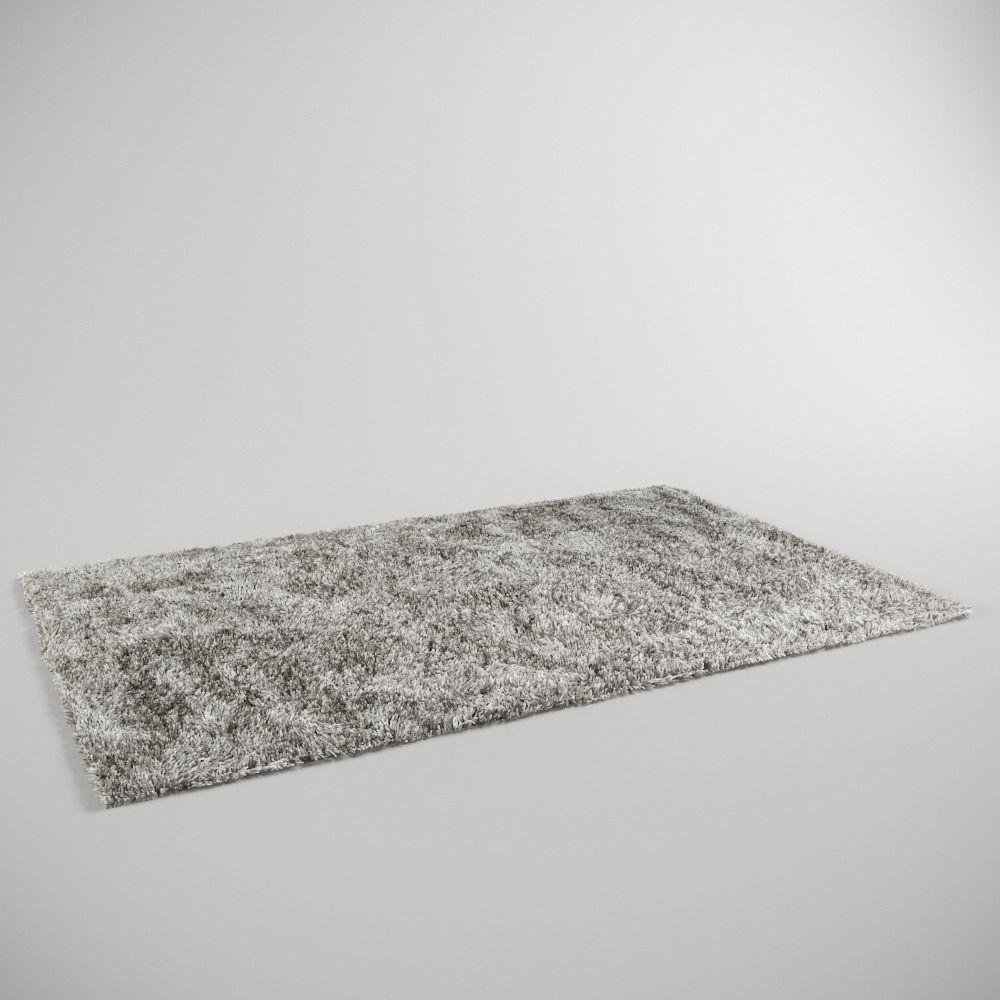 Fluffy Rug Carpet 3D Model MAX OBJ FBX MTL