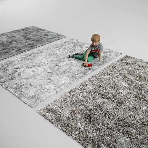 fluffy carpets.  fluffy rug carpet 3D model CGTrader