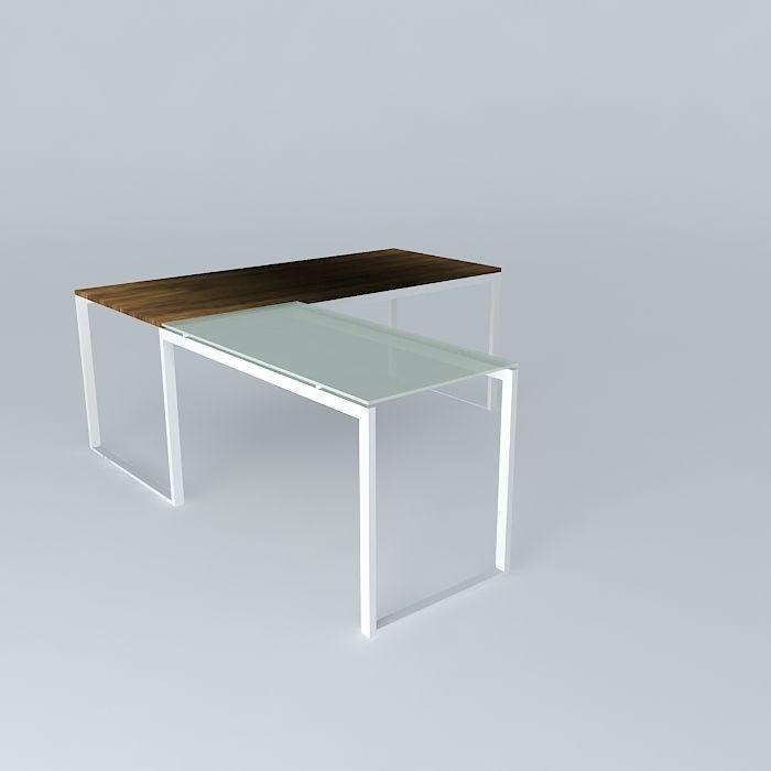 desk with return Heals Geneva | 3D model