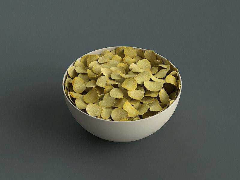 Big Bowl Of Potato Chips