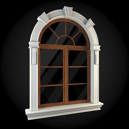 window 3d model max obj fbx 1