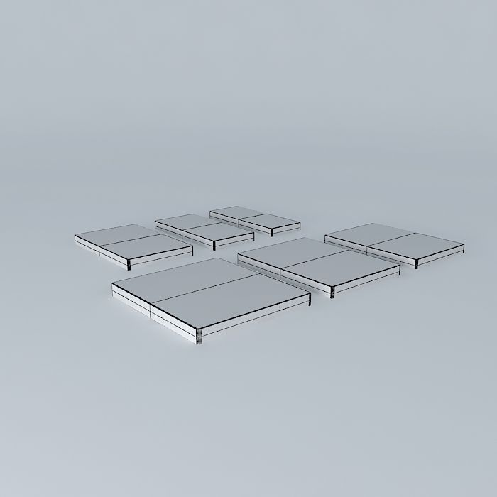 mattresses all standard bed sizes 3d model max obj 3ds