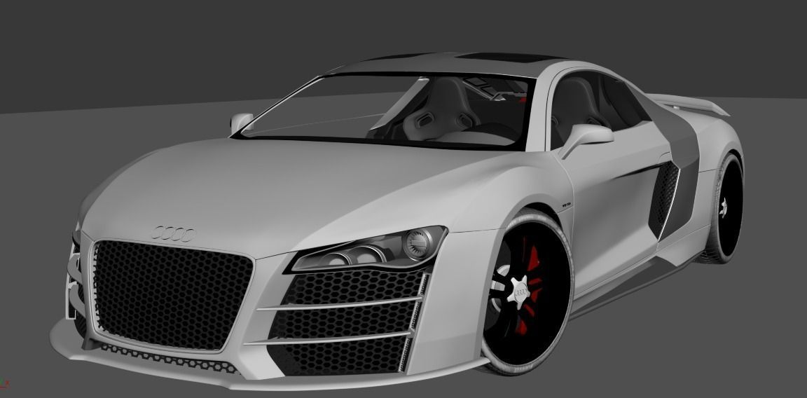 audi r8 v12 sport 3d model max obj 3ds. Black Bedroom Furniture Sets. Home Design Ideas