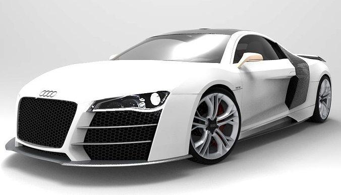 audi r8 v12 sport 3d model max obj mtl 3ds 1