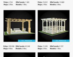 3D Pergolas Collection