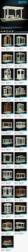 pergolas collection 3d model max obj mtl fbx pdf 1