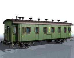 Passenger wagon 3D model