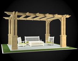 3D model decorative Pergola