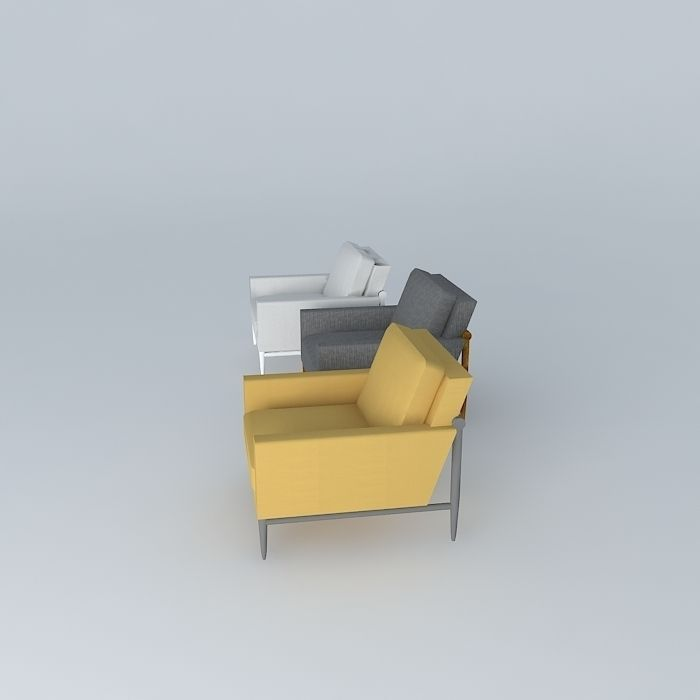 Simple arm chairs 3d model max obj 3ds fbx stl dae Simple 3d modeling online