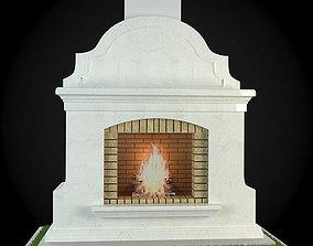 Garden Fireplace 3D model