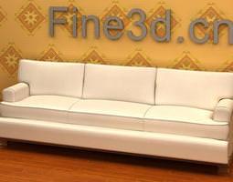 3D Large White Sofa