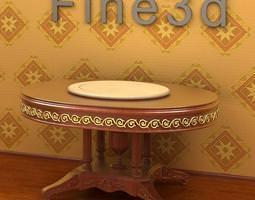 3D Oval shape table
