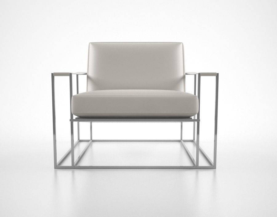 Milo Baughman Floating Lounge Chair 3d Model Max Obj Fbx Mtl 1 ...