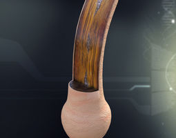 3D model Human Hair Anatomy
