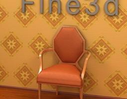 3d model orange color chair