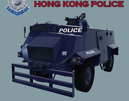 AT 105 SAXON HONK KONG POLICE 3D Model