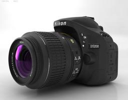3D asset Nikon D5200