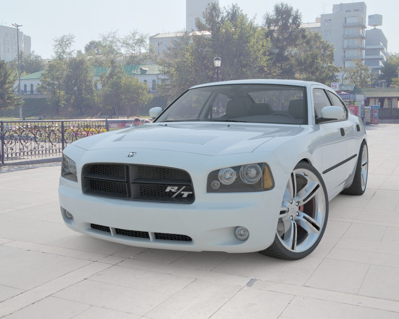 3d model dodge charger 2008 m-tech tuning hq model vr / ar / low