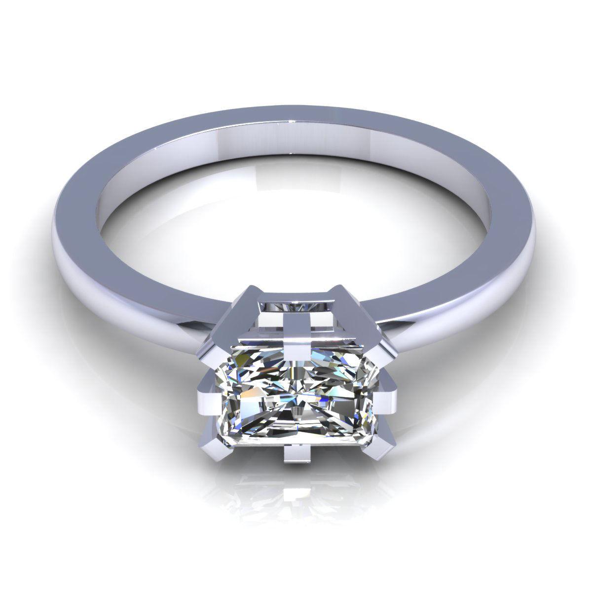 Emerald Diamond Ring 3D Model 3D Printable STL