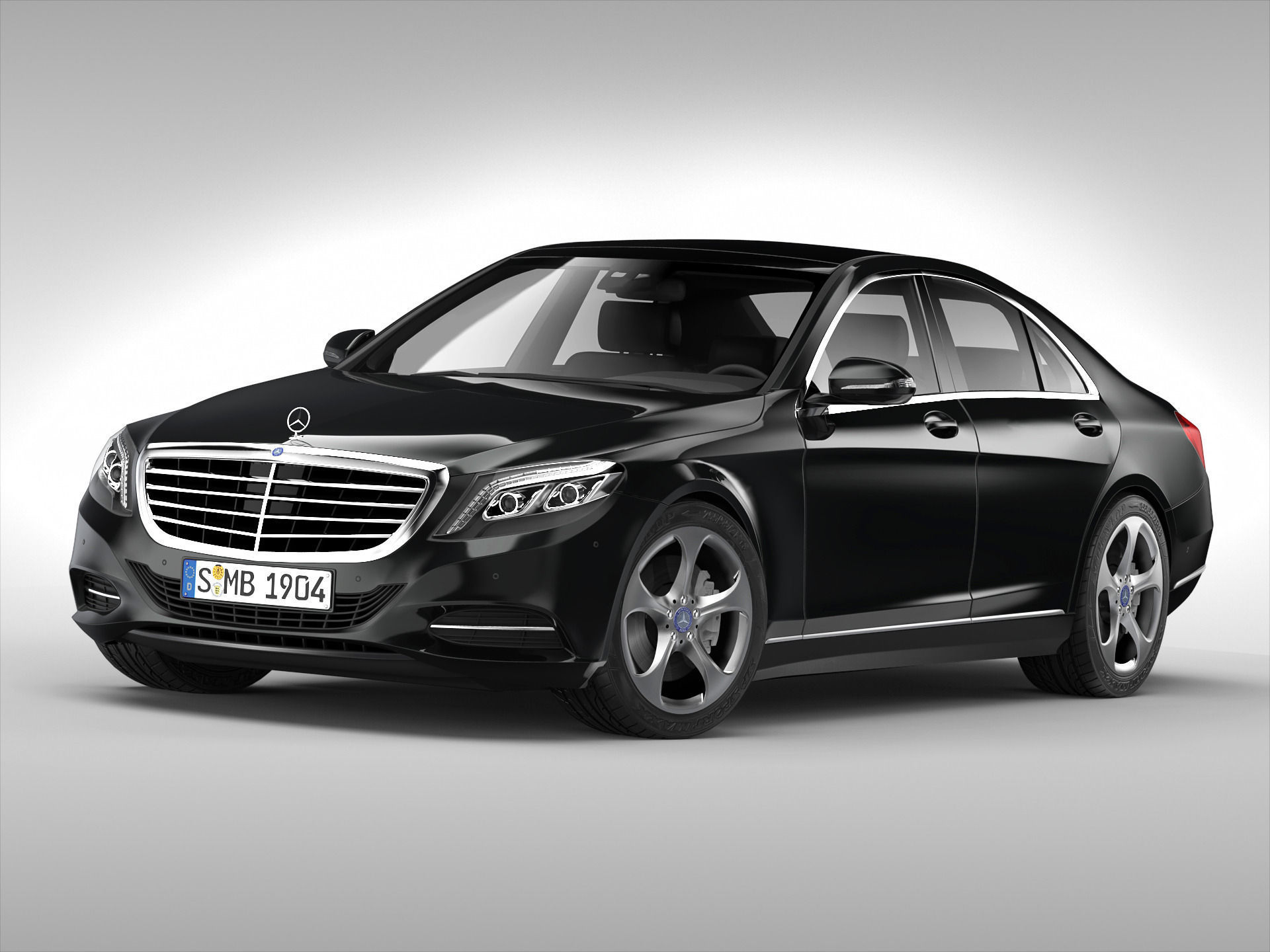 Mercedes Benz S Class 2014 3d Model Max Obj Mtl 3ds Fbx 1 ...