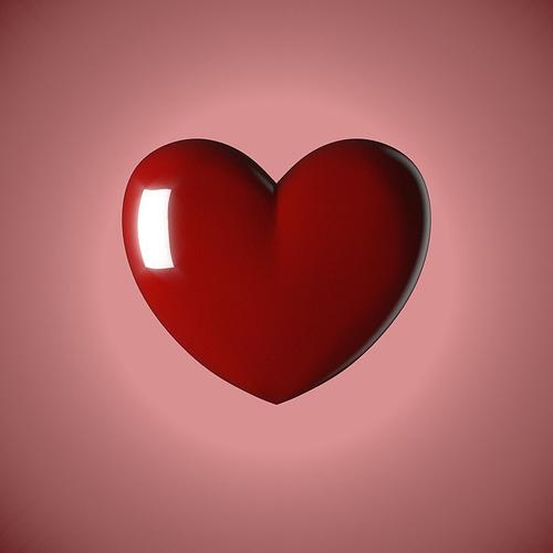 love heart 3d model obj mtl stl blend 1 ...