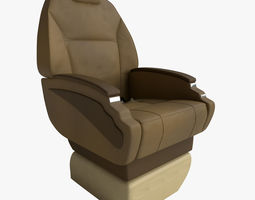 3d model rigged aircraft seat