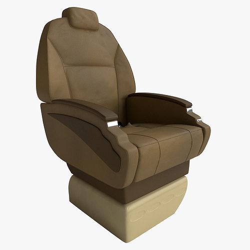 aircraft seat 3d model rigged max obj mtl 3ds fbx 1