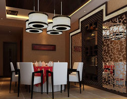realistic dining room design 03 3d