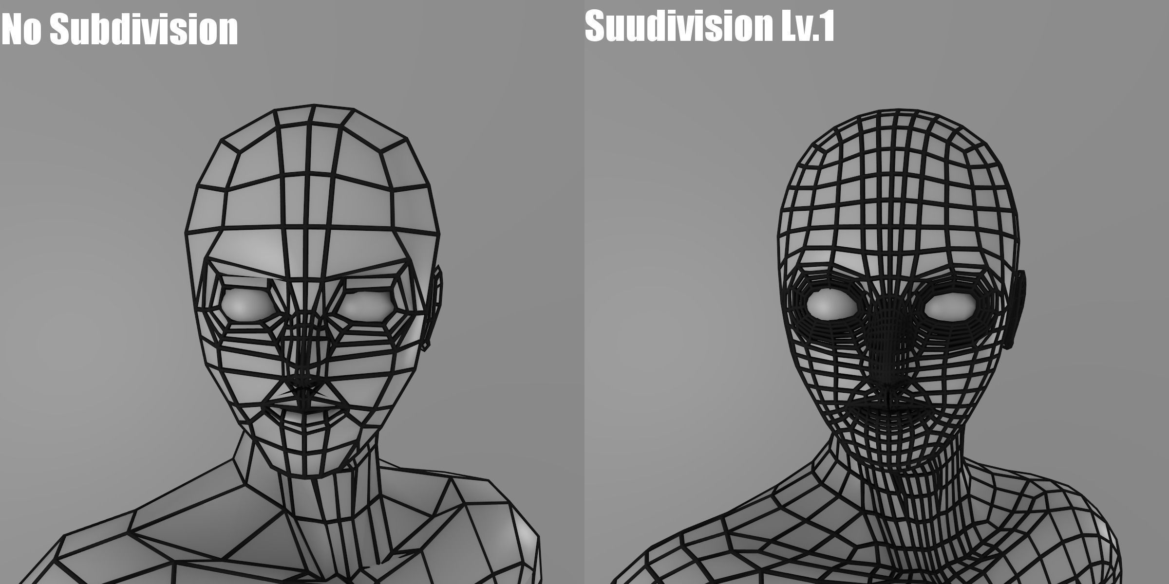 3d Model Simple Low Poly Base Mesh Male Vr Ar Low