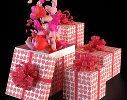 3D model Valentine Gift Boxes