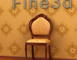 3D model Embroidered Chair