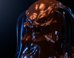 Predator High-Poly head 3D