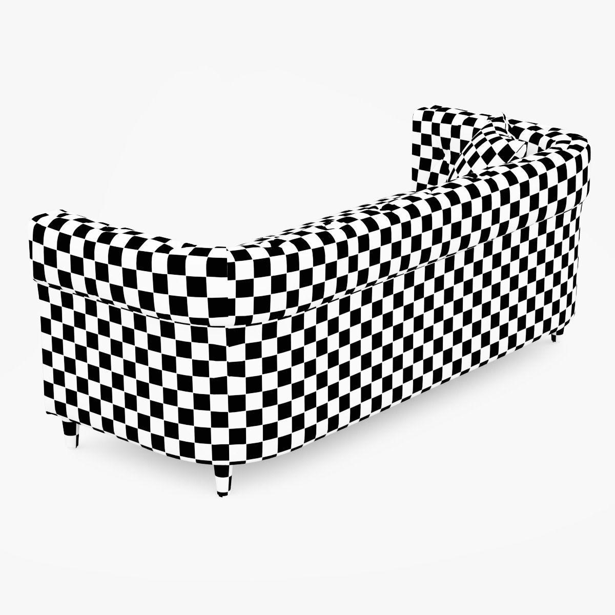 Chester Tufted Upholstered Sofa D Model CGTrader - Tufted upholstered sofa