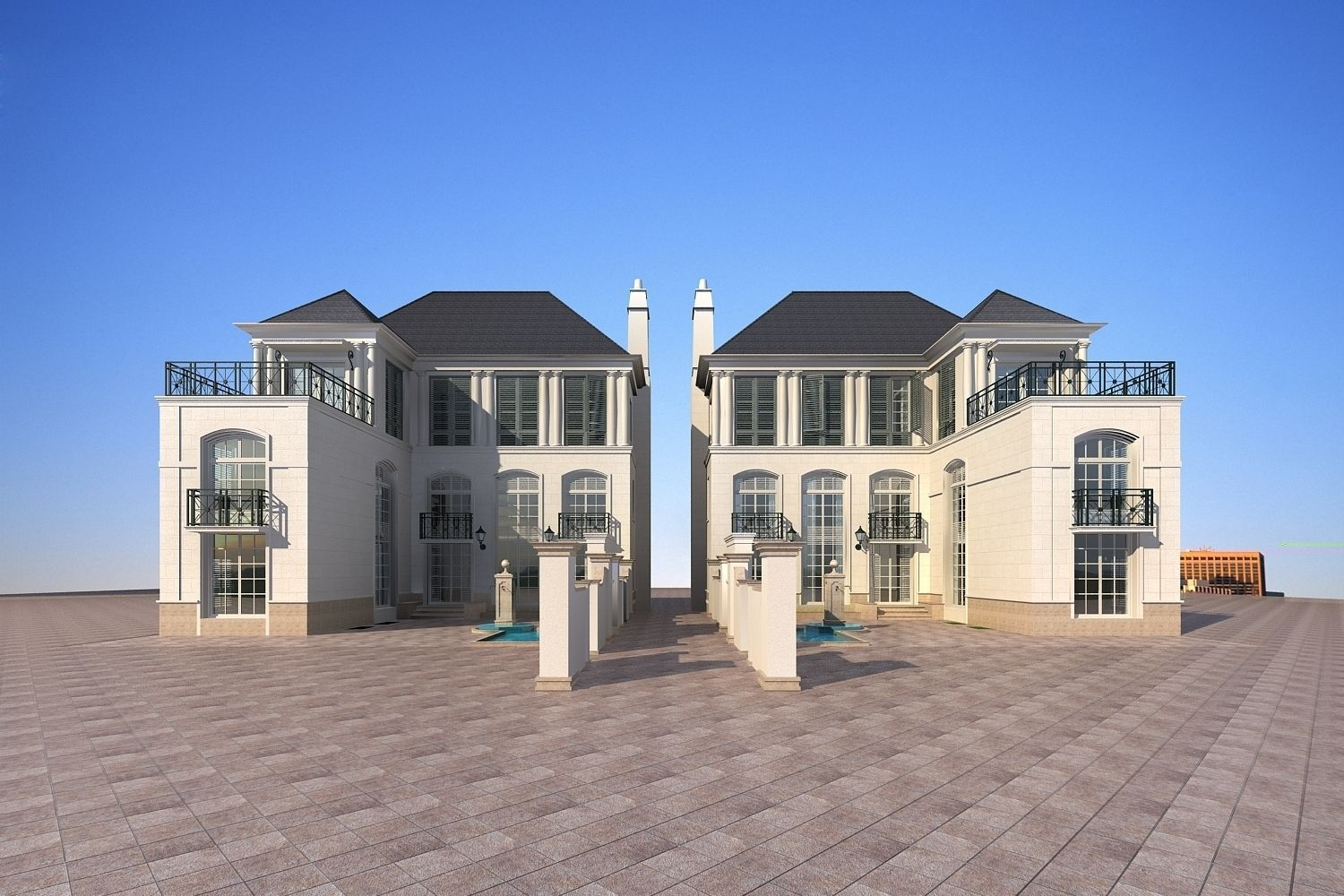 Rich house building 105 3D model CGTrader