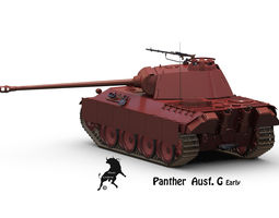 panther ausf g early 3d model max obj fbx