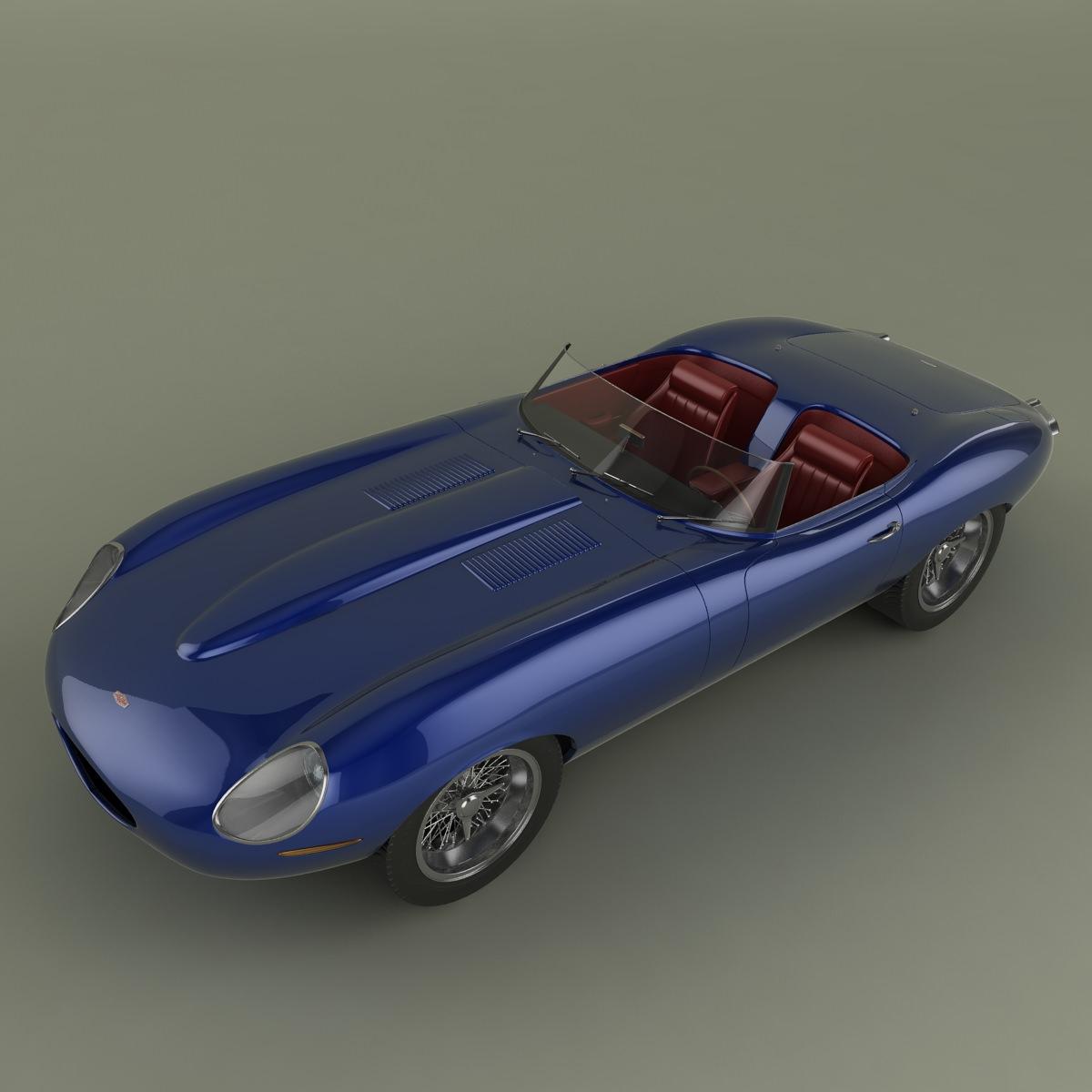 Jaguar E Type: Jaguar E-Type Eagle Speedster 3D Model MAX OBJ 3DS