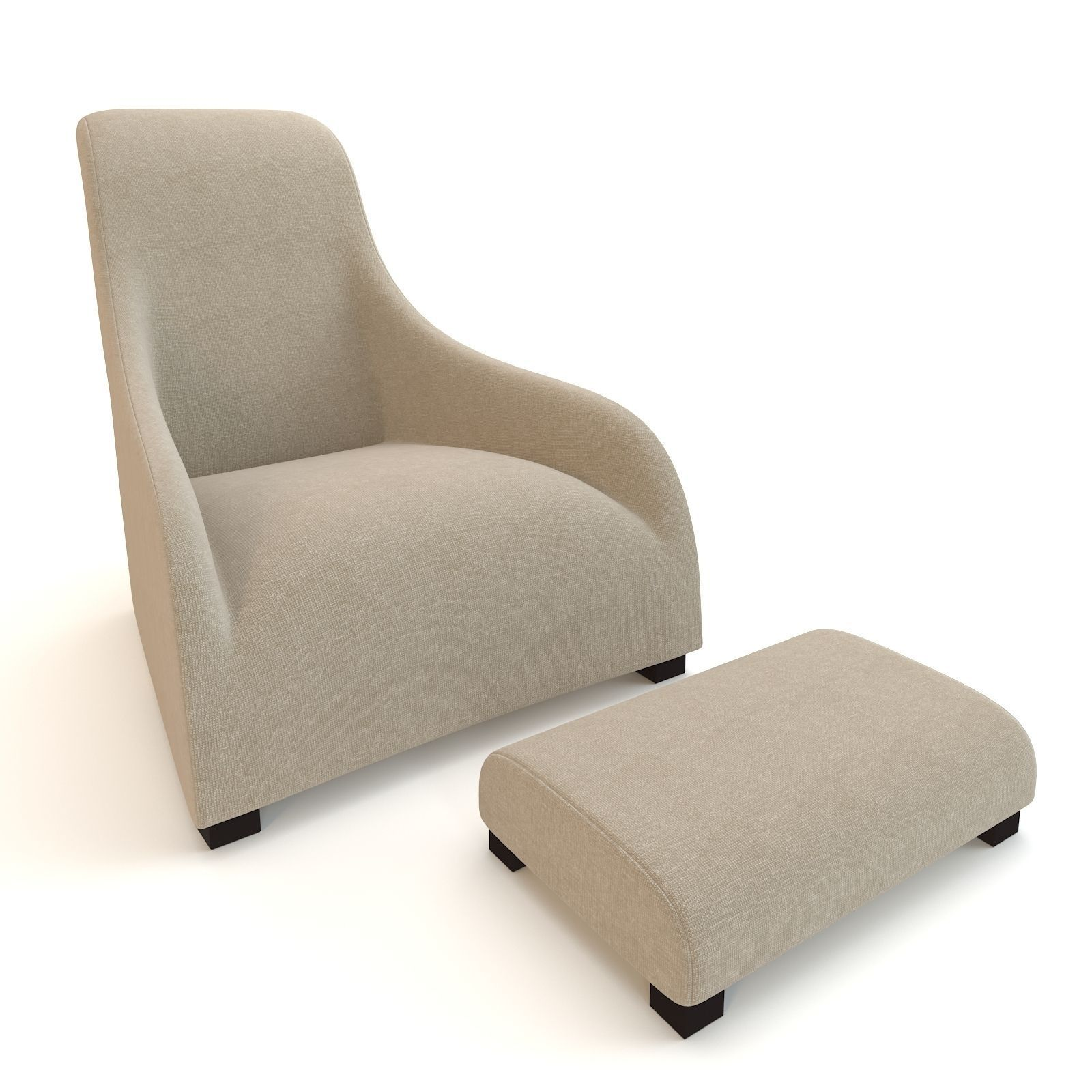 BebItalia Armchair Maxalto Kalos Apta With... 3D Model MAX