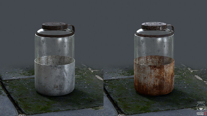 rusted and stained jar 3d model low-poly ma mb tga 1