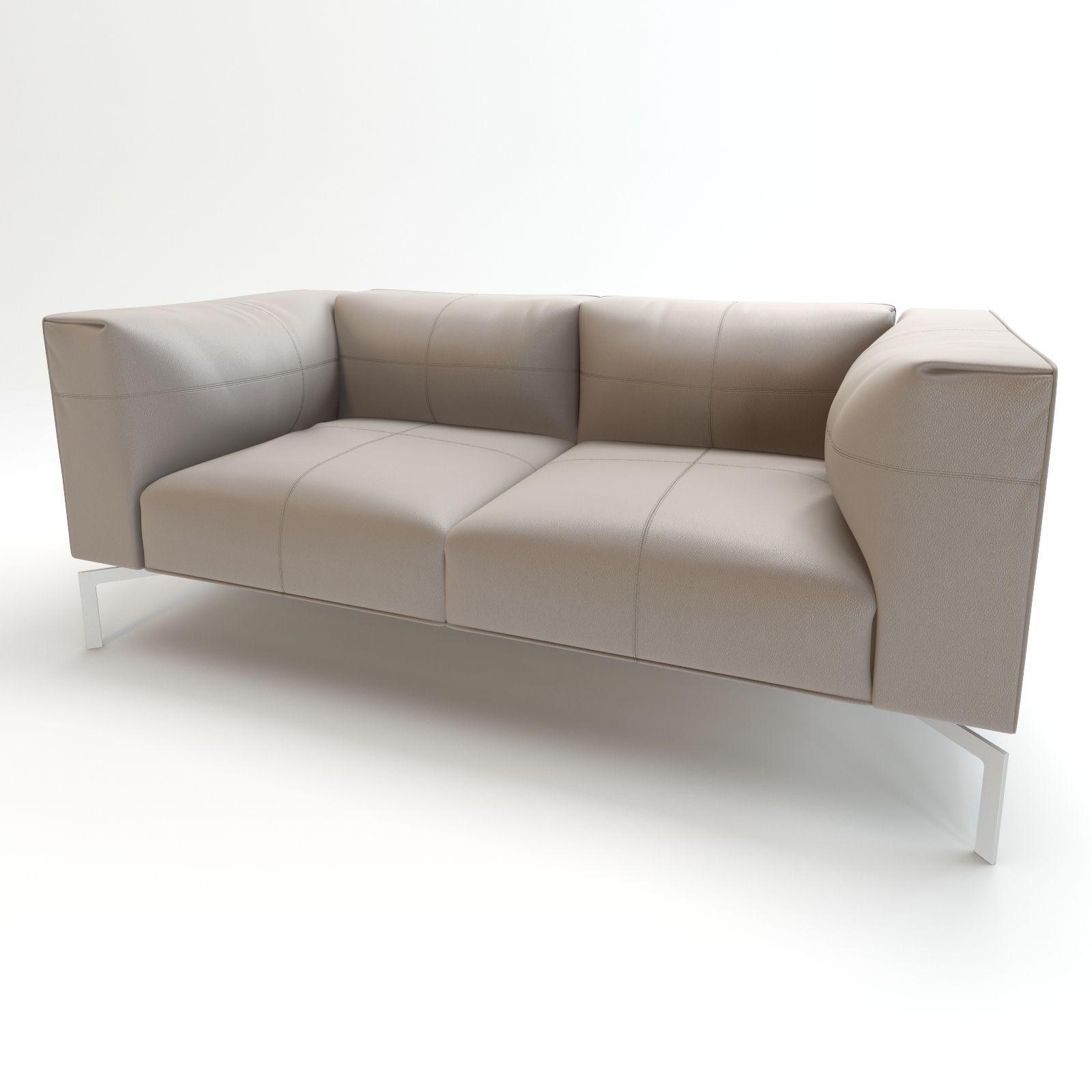 ... Leather Sofa Poltrona Frau 3d Model Max Obj Mtl Fbx ...