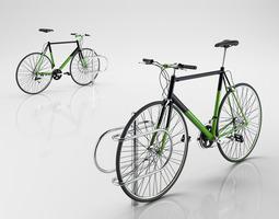bike with rack 3d model
