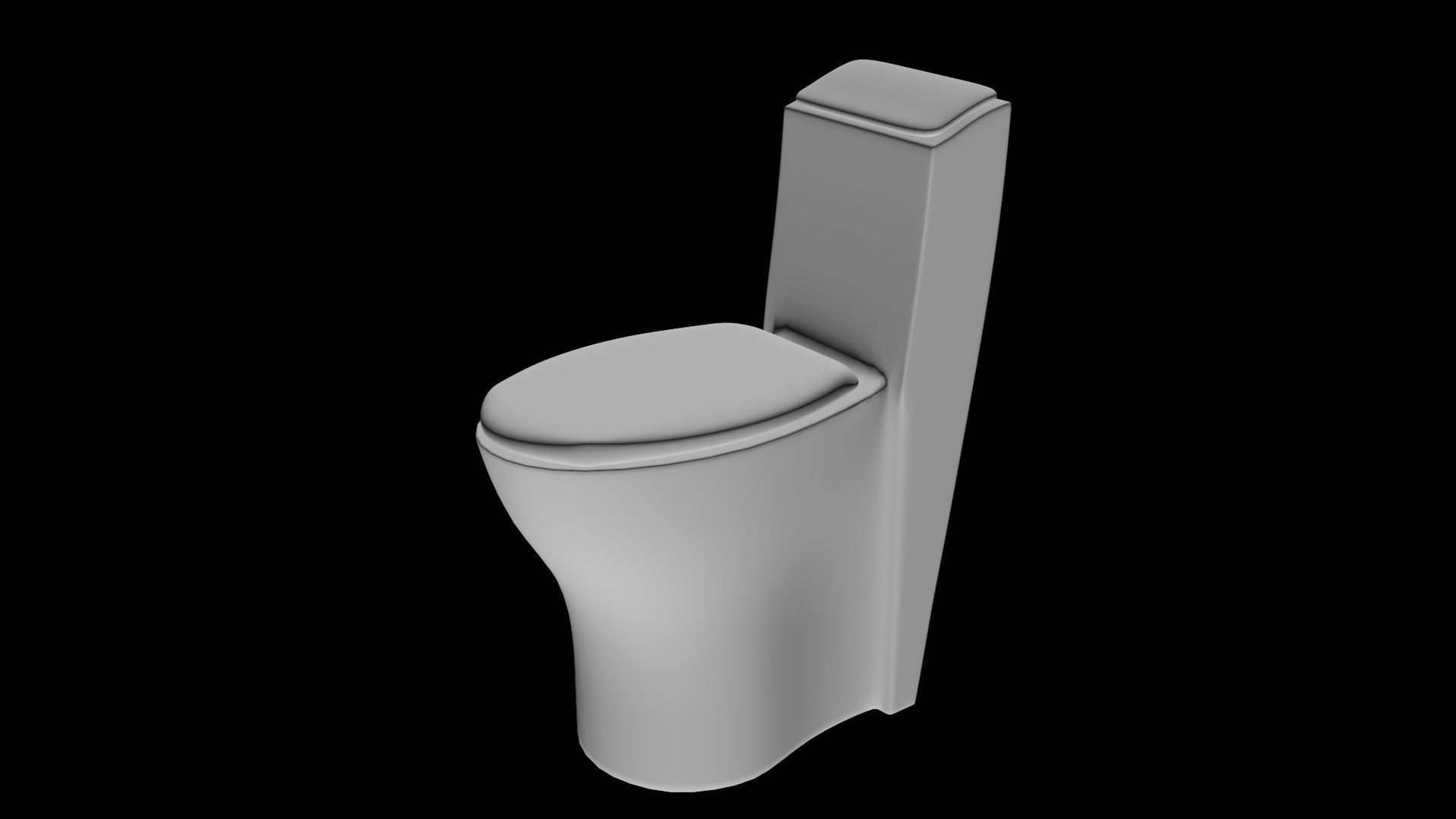 Toilet 3d model low poly cgtrader