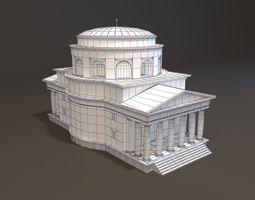 neoclassical st alexander church miniature 3d print model