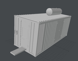 3d model construction container VR / AR ready