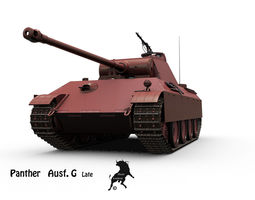 panther ausf g  late 3d model max obj fbx