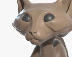 Cat high-poly blender 3D