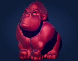 chimp Gorilla 3D printable model