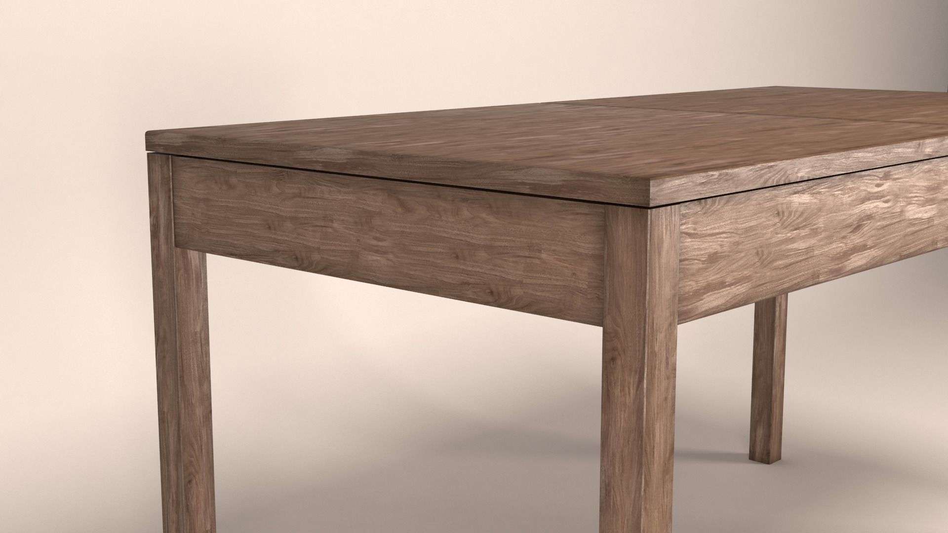 old wooden table 3d cgtrader