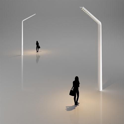 Modern street lamp 3d model